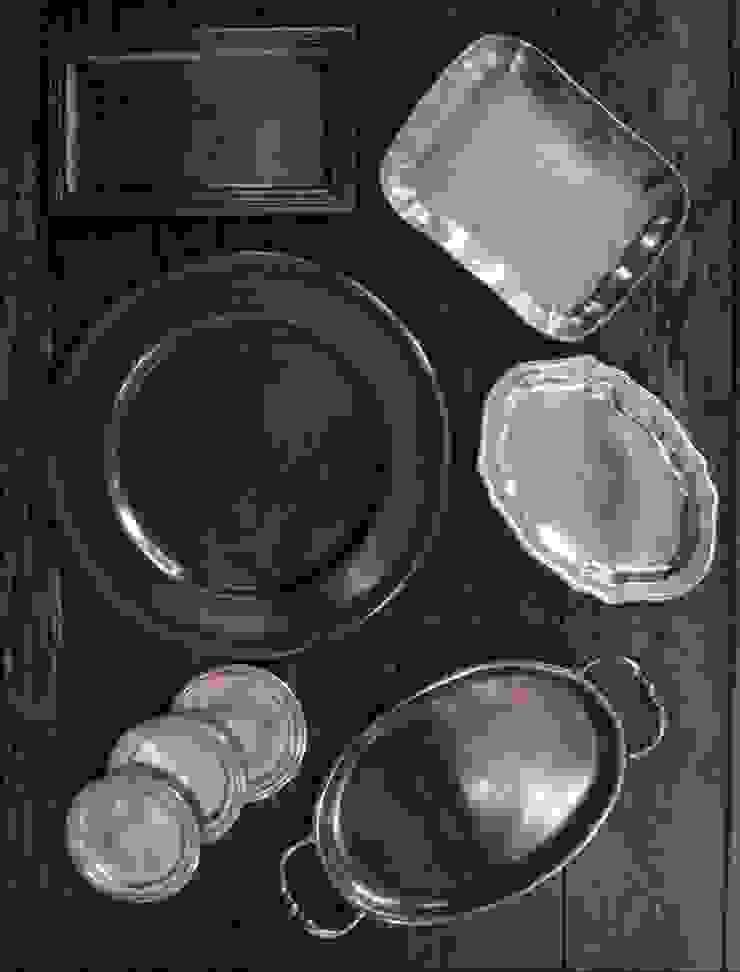 Pewter plates: M'amour(マムール)が手掛けたカントリーです。,カントリー