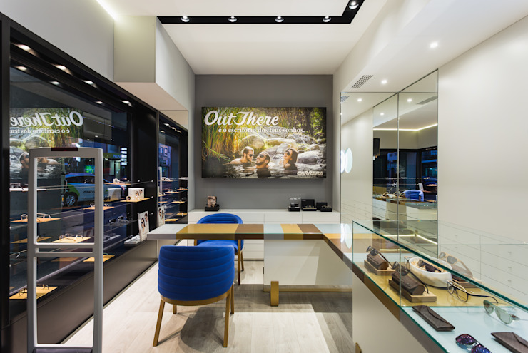 OMR_SM_1 Lojas e Espaços comerciais modernos por XYZ Arquitectos Associados Moderno