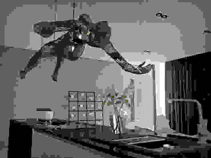 150 квадратных метров многофункционального пространства для музыканта. Киев. Кухня в стиле лофт от ONEDESIGN Лофт