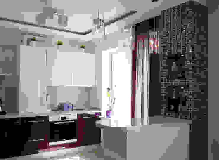 Квартира-студия г.Новороссийск Кухни в эклектичном стиле от Yana Ikrina Design Эклектичный
