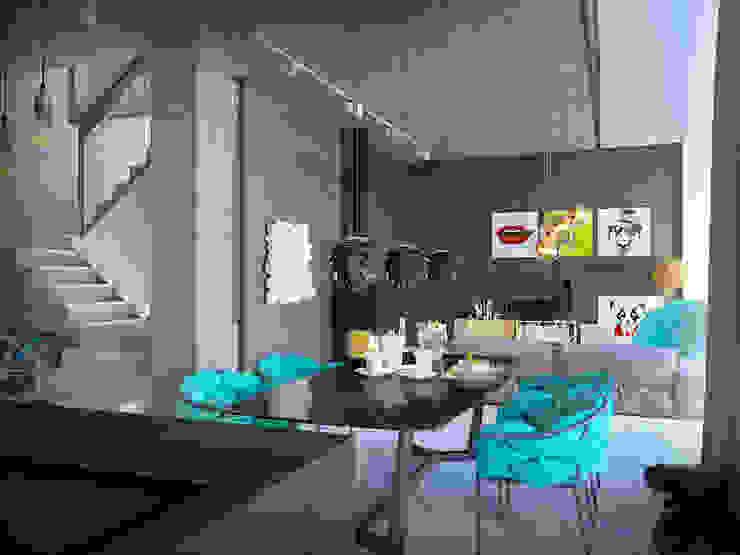 Pechersk apartment Гостиная в стиле лофт от ONEDESIGN Лофт