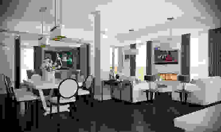 London Penthouse Salas de estilo clásico de RIP3D ARCHVIZ Clásico