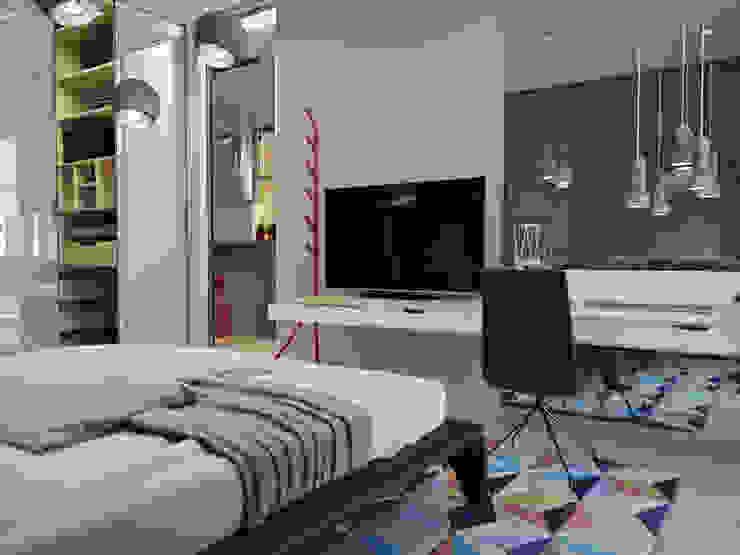 Новопечерские Липки Спальня в стиле лофт от ONEDESIGN Лофт