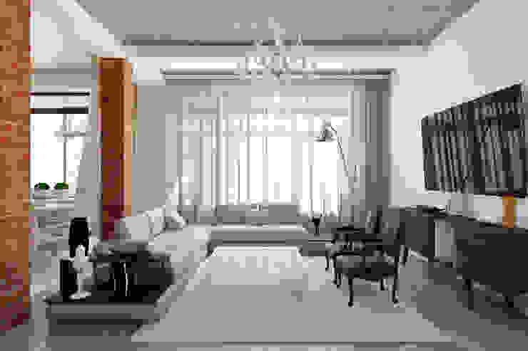 Тот самый LOFT house Гостиная в стиле лофт от Дизайн Мира Лофт