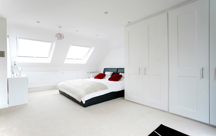 Orpington L Shape Dormer Loft Conversion A1 Lofts and Extensions Moderne Schlafzimmer