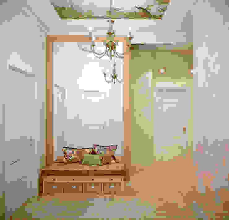 Дизайн прихожей в стиле неоклассика в г. Абинск Коридор, прихожая и лестница в эклектичном стиле от Студия интерьерного дизайна happy.design Эклектичный
