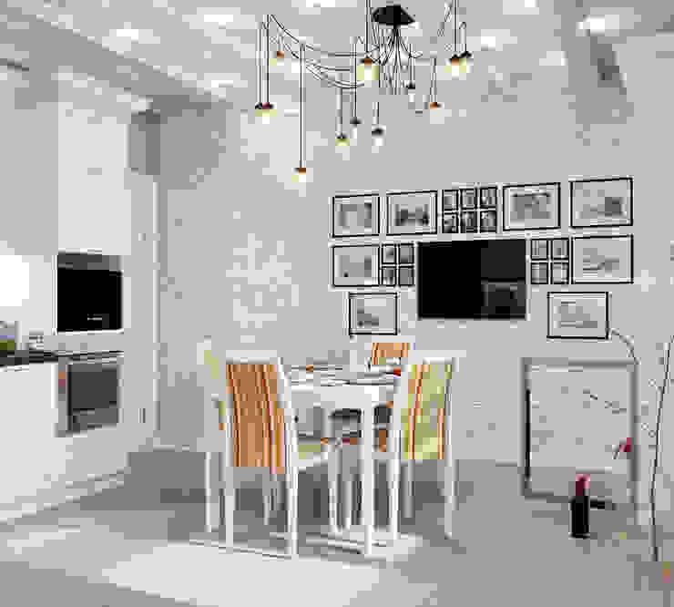 Три разных интерьера для одной кухни Кухня в стиле модерн от Студия дизайна Interior Design IDEAS Модерн