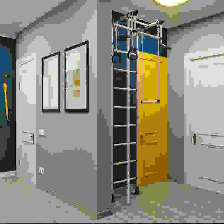 Модная прихожая в двух цветах Студия дизайна ROMANIUK DESIGN Коридор, прихожая и лестница в модерн стиле