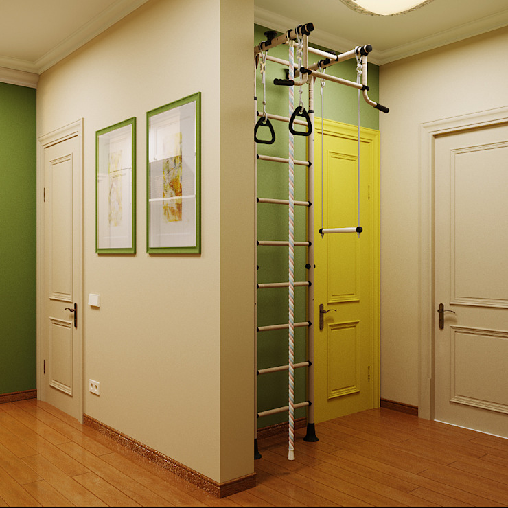 Модная прихожая в двух цветах Коридор, прихожая и лестница в модерн стиле от Студия дизайна Interior Design IDEAS Модерн