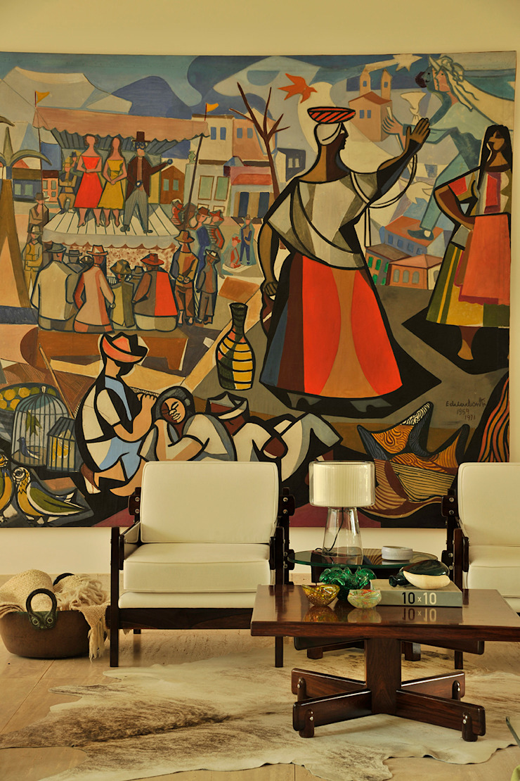 Residência VD Salas de estar modernas por isis chaulon arquitetura Moderno