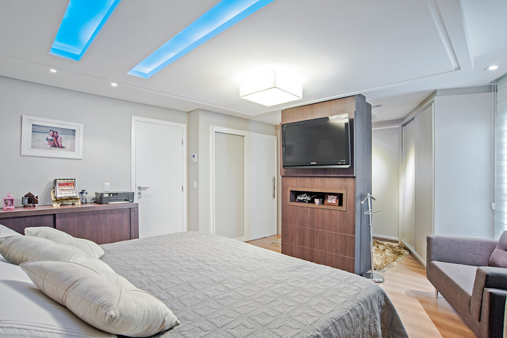 Moderne Schlafzimmer von Patrícia Azoni Arquitetura + Arte & Design Modern