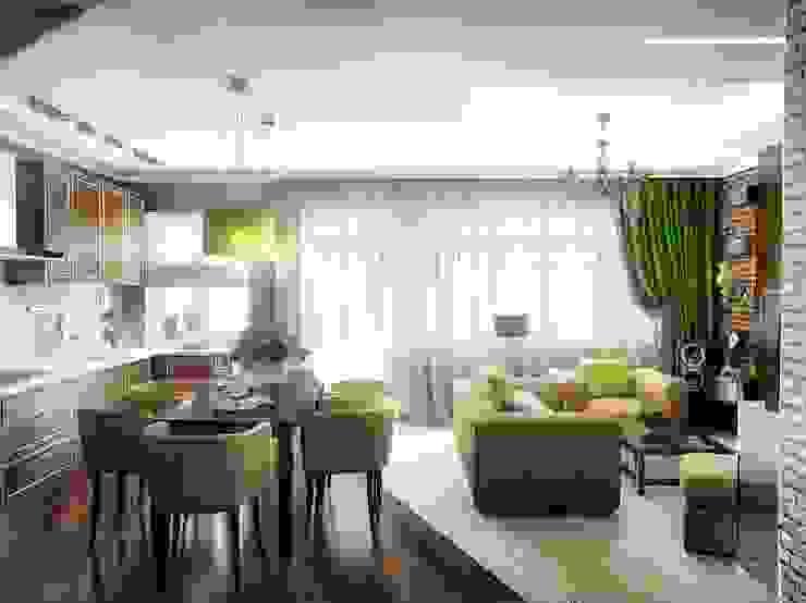 Кухня-гостинная Кухня в стиле лофт от Проектное бюро O.Diordi Лофт