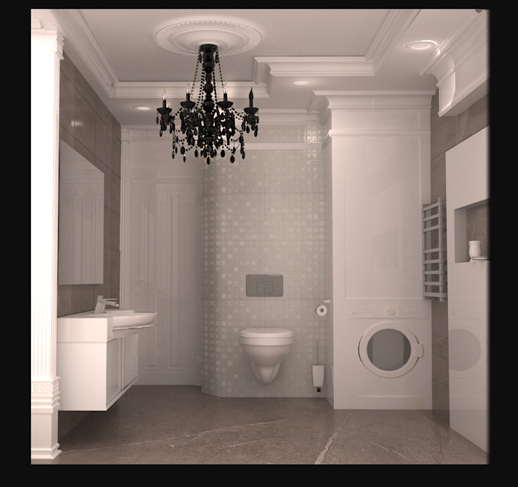 ванная вид 2. Ванная в классическом стиле от freeDOM Классический Плитка