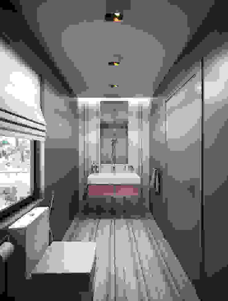 Bathrooms. USA Ванная комната в эклектичном стиле от KAPRANDESIGN Эклектичный Плитка