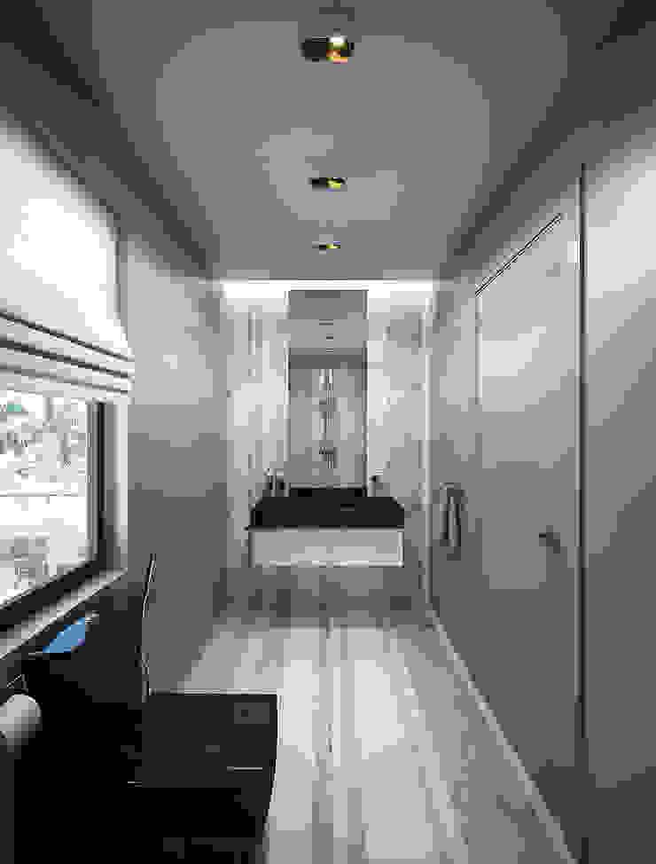 Bathrooms. USA Ванная комната в эклектичном стиле от KAPRANDESIGN Эклектичный Камень