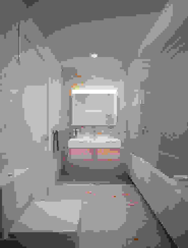 Bathrooms. USA Ванная комната в эклектичном стиле от KAPRANDESIGN Эклектичный Мрамор
