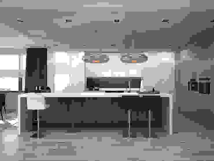 Kitchen. Options. USA Кухня в стиле минимализм от KAPRANDESIGN Минимализм Плитка