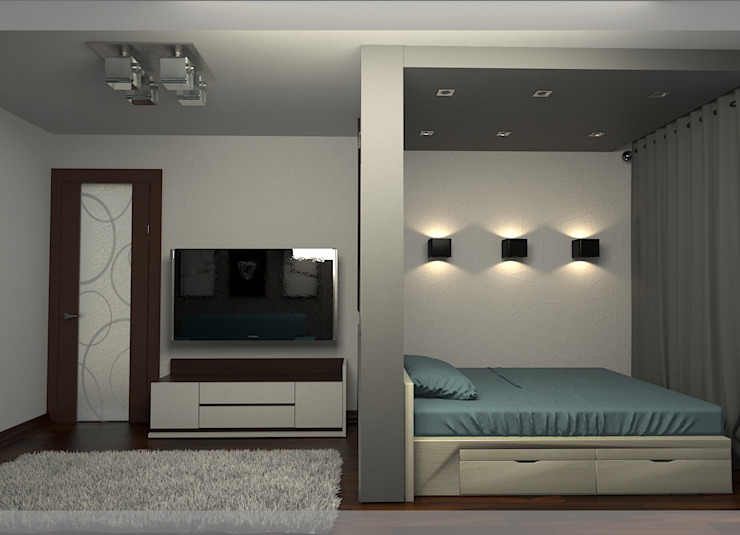 комната парня 17 лет Спальня в стиле минимализм от freeDOM Минимализм Бумага