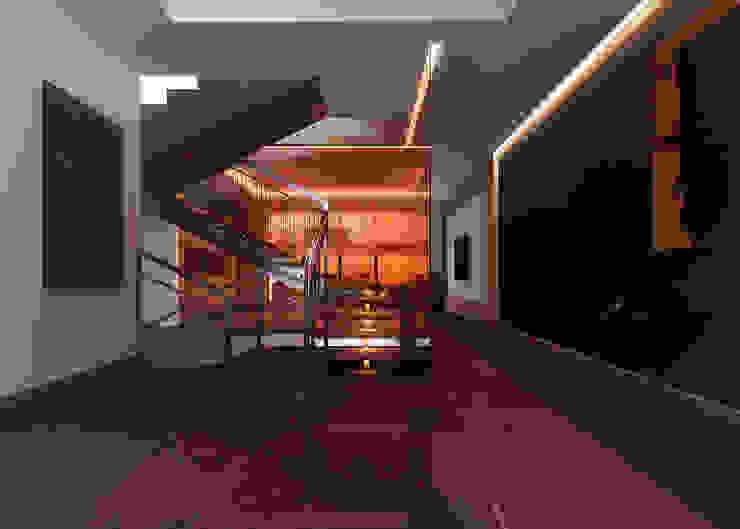 Kharkiv. Townhouse Коридор, прихожая и лестница в стиле минимализм от KAPRANDESIGN Минимализм Стекло