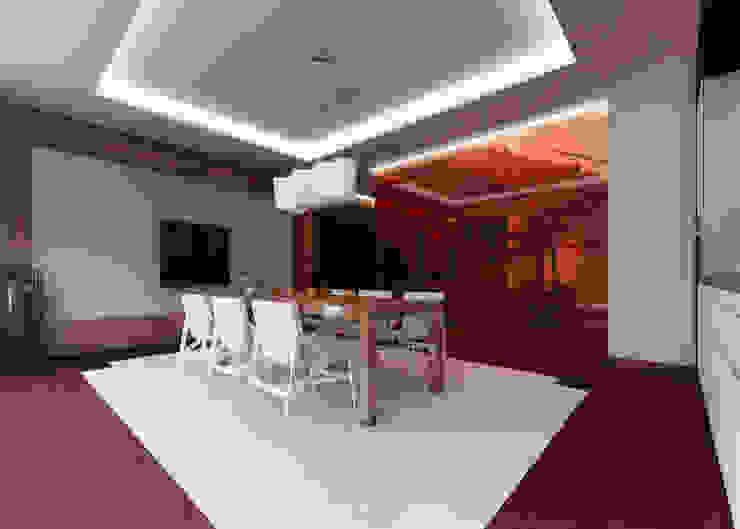 Kharkiv. Townhouse Столовая комната в стиле минимализм от KAPRANDESIGN Минимализм Стекло