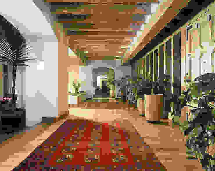 Casa R Pasillos, vestíbulos y escaleras clásicas de homify Clásico