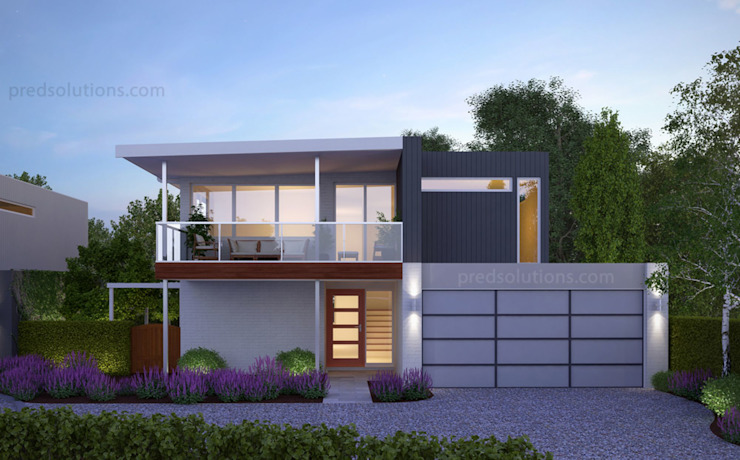 Exterior 3D Rendering from Pred Solutions by Pred Solutions Modern