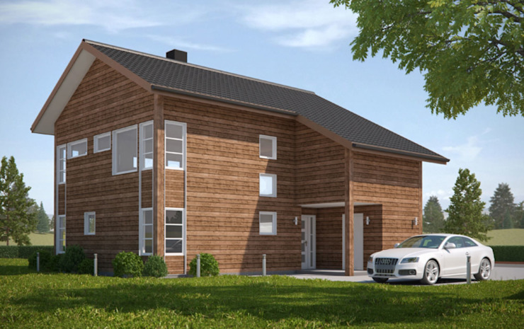 3D Exterior Architectural Rendering from Pred Solutions Modern Houses by Pred Solutions Modern