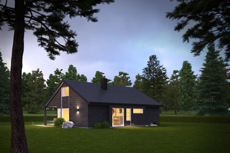 3d Exterior House Rendering from Pred Solutions Modern houses by Pred Solutions Modern