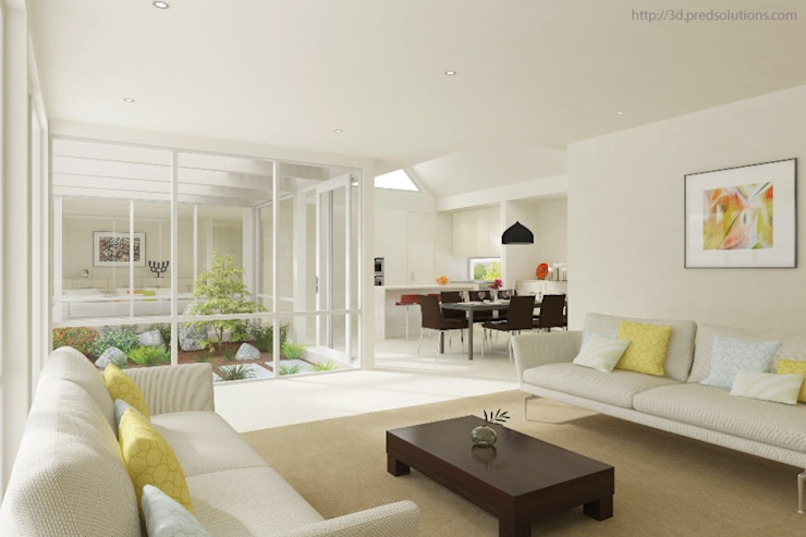 3D Living Room Visualization from Pred Solutions Pred Solutions Modern Living Room
