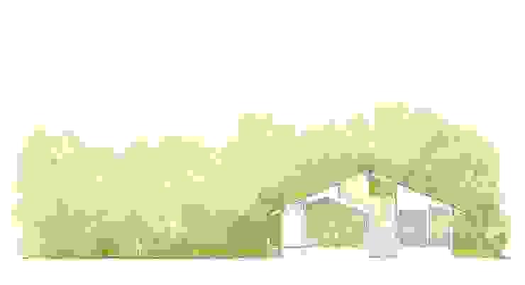 透き抜ける家: 麻生建築設計工房が手掛けた現代のです。,モダン
