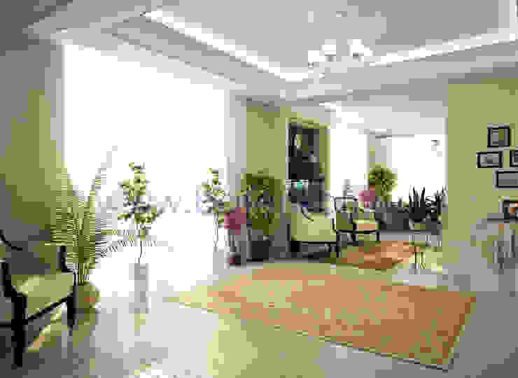 Дизайн зимнего сада с камином в классическом стиле Зимний сад в классическом стиле от homify Классический Бумага