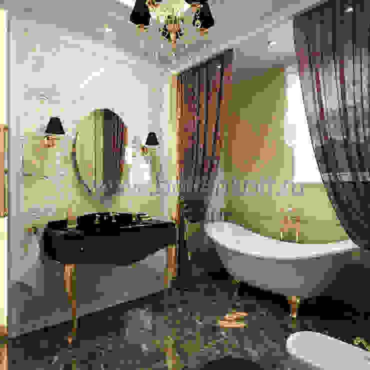 Дизайн проект ванной комнаты в классическом стиле Ванная в классическом стиле от homify Классический Плитка
