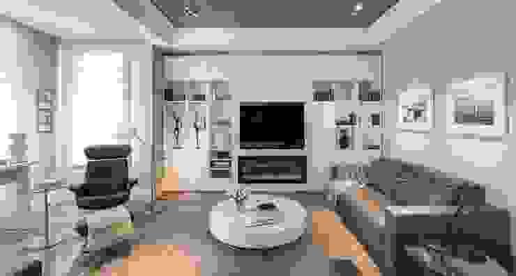 Salón luminoso en blancos y grises Salones de estilo ecléctico de Laura Yerpes Estudio de Interiorismo Ecléctico