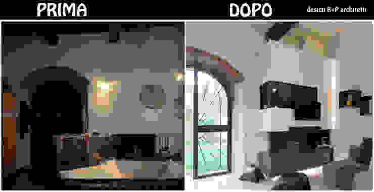Paredes y pisos modernos de B+P architetti Moderno