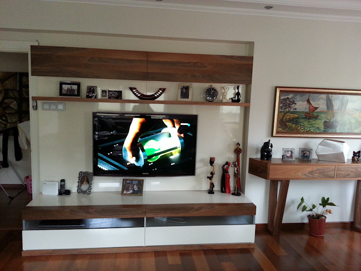 Erim Mobilya Living roomTV stands & cabinets Engineered Wood White