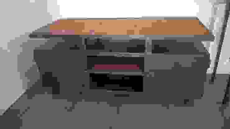Meuble TV bois et métal Hewel mobilier SalonMeubles télévision & multimédia Métal Noir