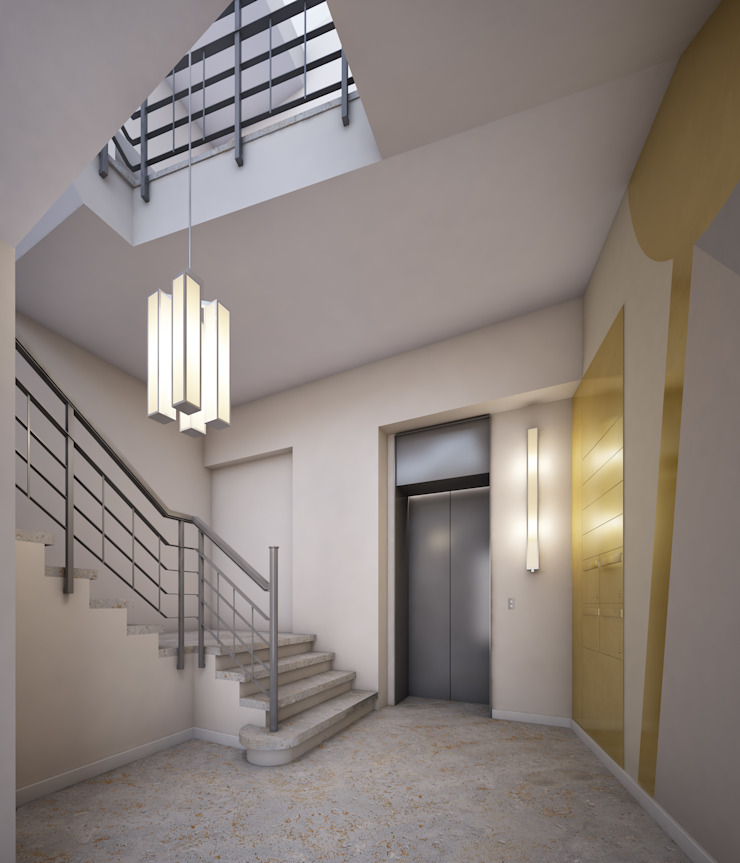 winhard 3D Industrial style corridor, hallway and stairs
