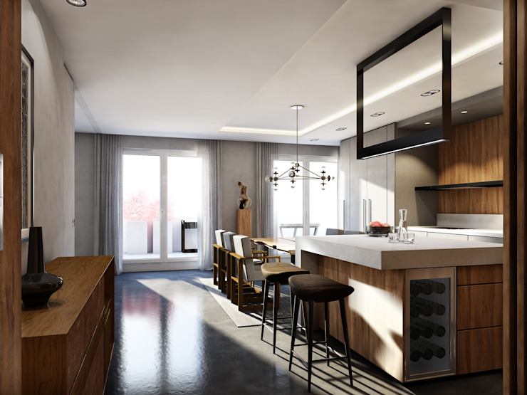 winhard 3D Cocinas de estilo moderno