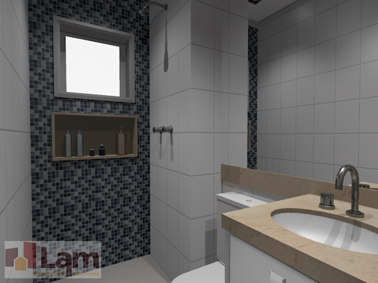 Banheiro - Projeto por LAM Arquitetura   Interiores