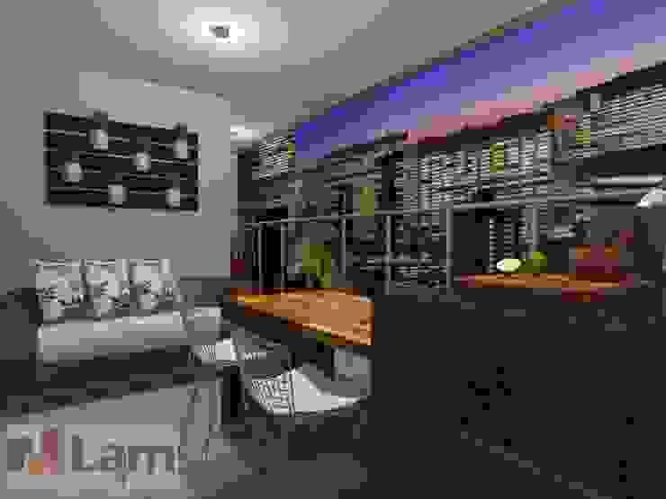 Terraço - Projeto por LAM Arquitetura   Interiores