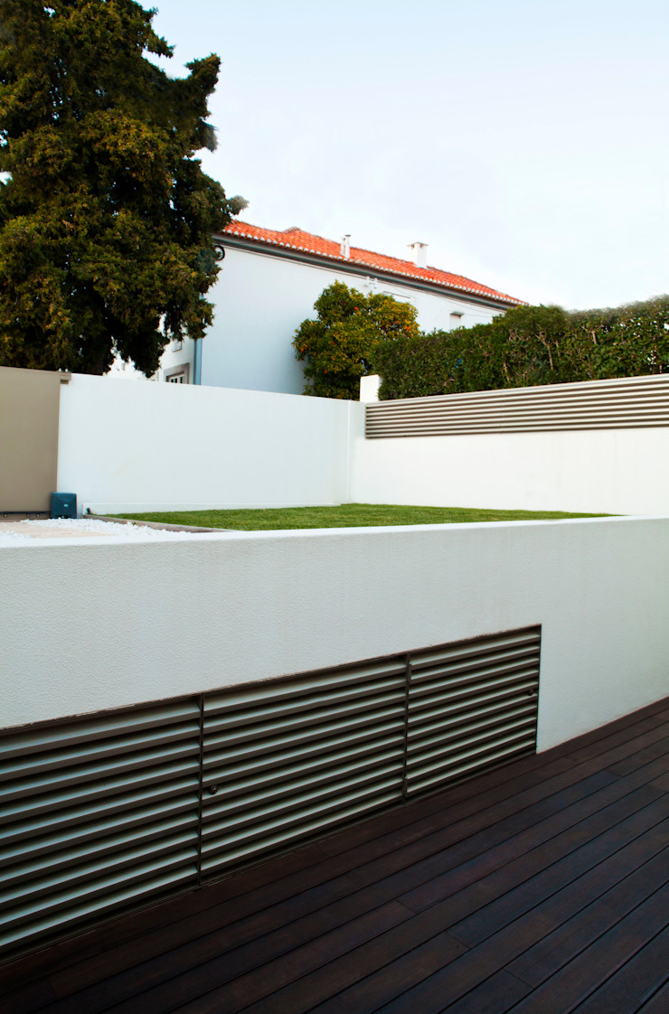 Espaço Exterior Jardins modernos por Spacemakers Moderno