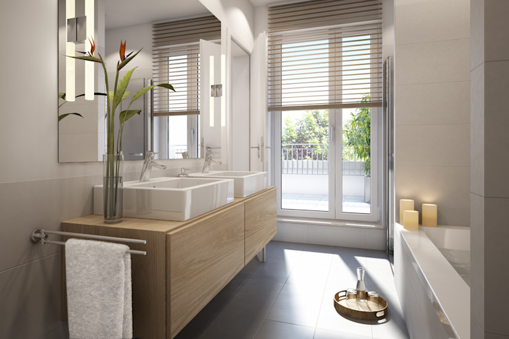 Modern style bathrooms by winhard 3D Modern