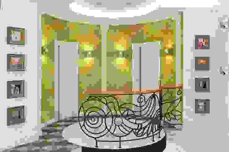 Alena Gorskaya Design Studio Eclectic corridor, hallway & stairs Green