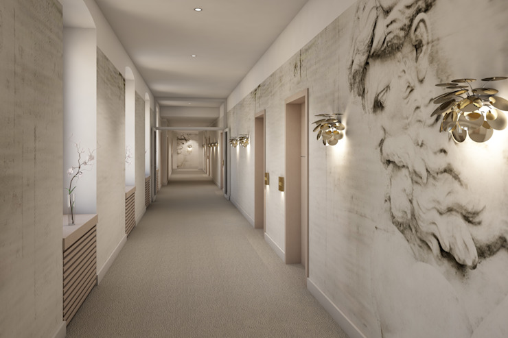 winhard 3D Pasillos, vestíbulos y escaleras de estilo moderno