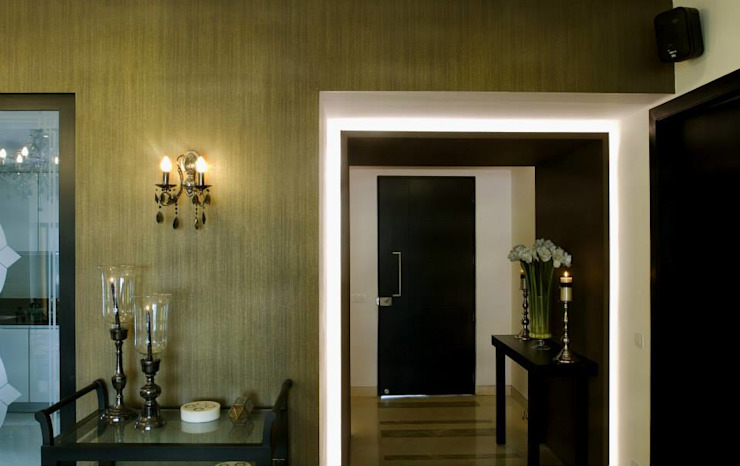 In-situ Design Modern corridor, hallway & stairs