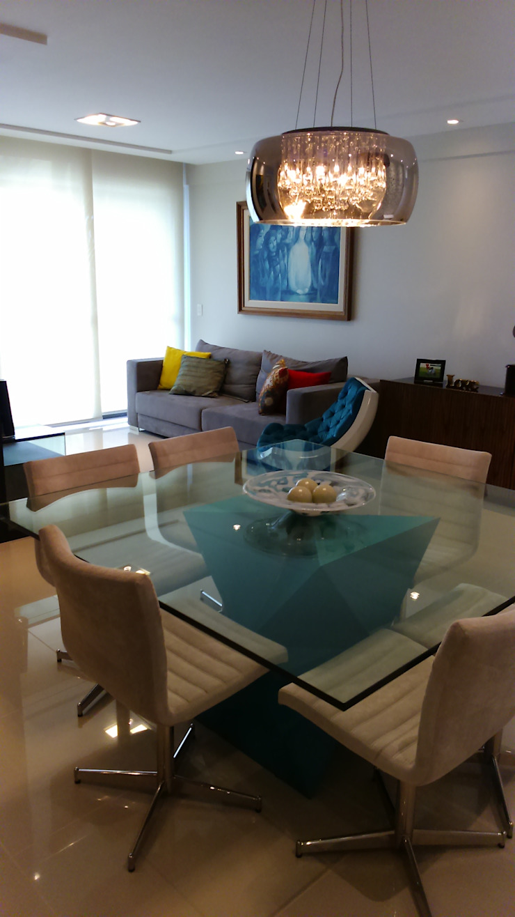 Sala de Jantar Salas de jantar modernas por Caroline Lima Arquitetura Moderno Vidro