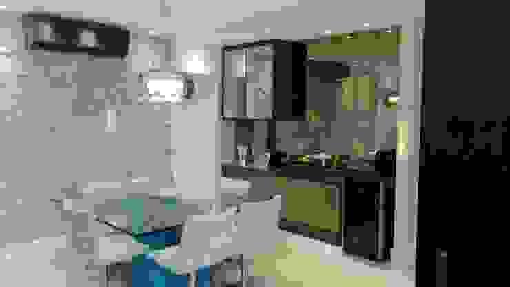 Sala de Jantar Salas de jantar modernas por Caroline Lima Arquitetura Moderno Pedra