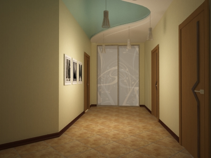 Classic style corridor, hallway and stairs by Yana Ikrina Design Classic