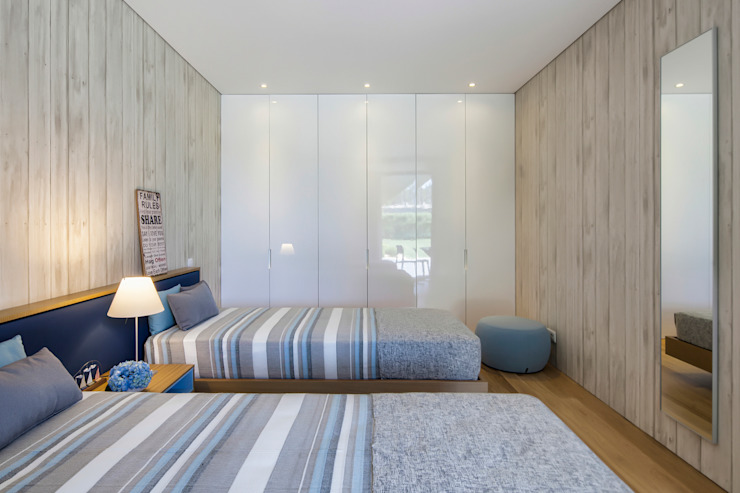Guest Room Modern Bedroom by INAIN Interior Design Modern