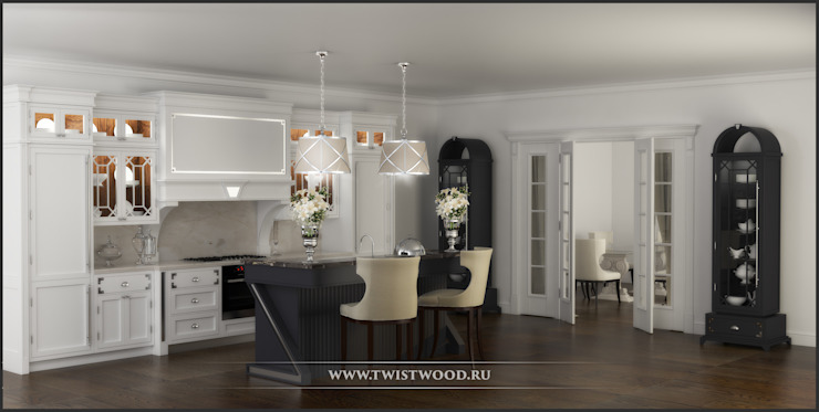 Кухня Марлен от Valeria Bylgakova&Design group Классический Изделия из древесины Прозрачный